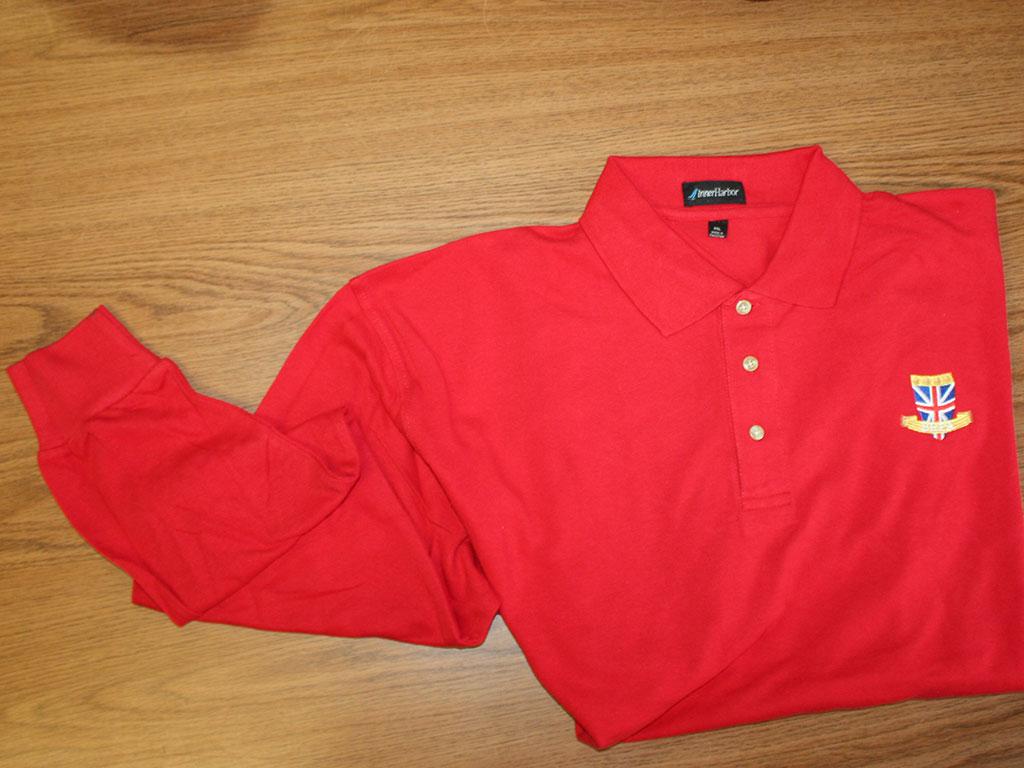 Clothesshirts Brpa Polo Shirt Long Sleeve Red Size Xxl Brpa